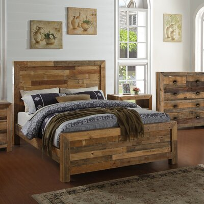 Abbey Platform Bed Color: Natural, Size: California King
