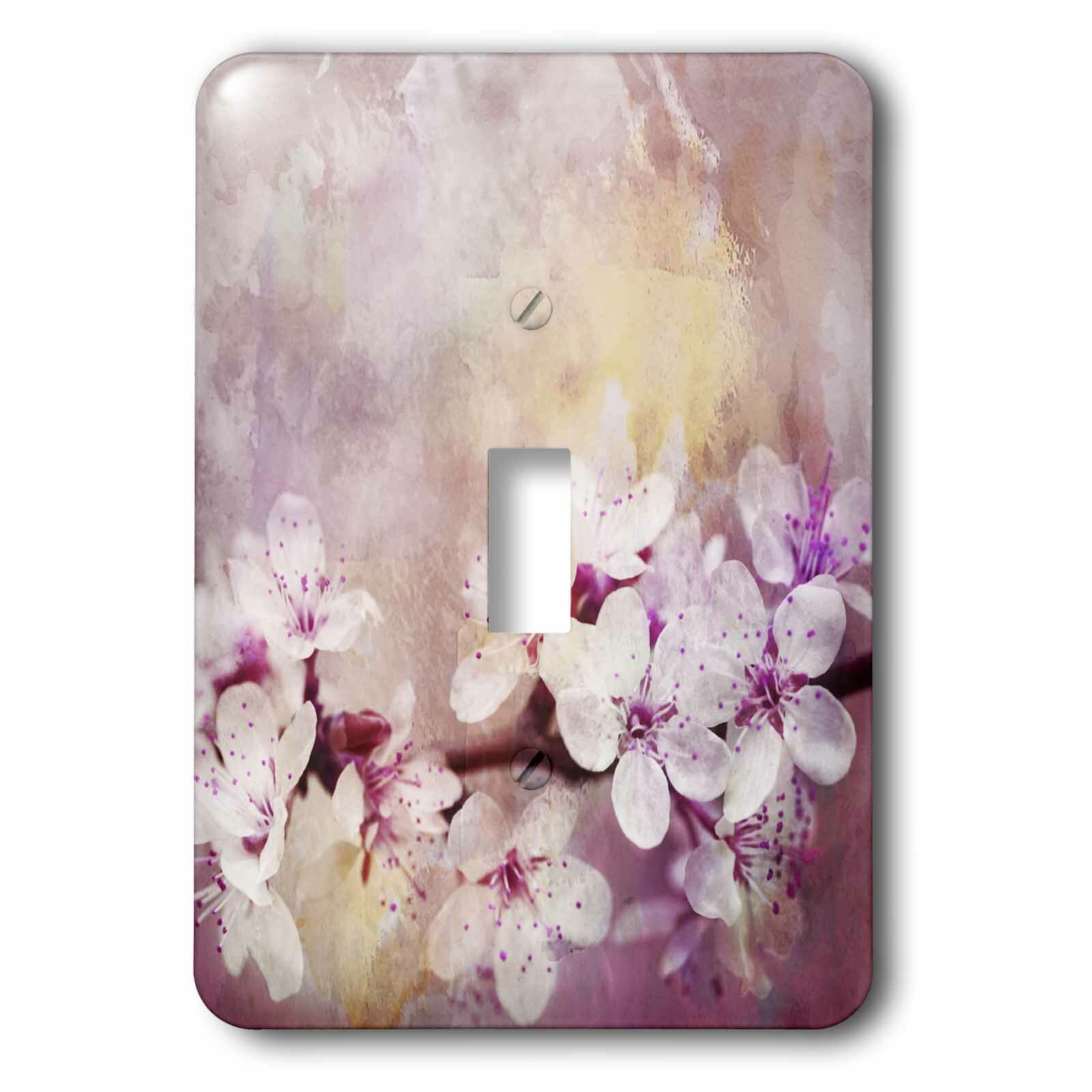 3drose Cherry Blossom 1 Gang Toggle Light Switch Wall Plate Wayfair