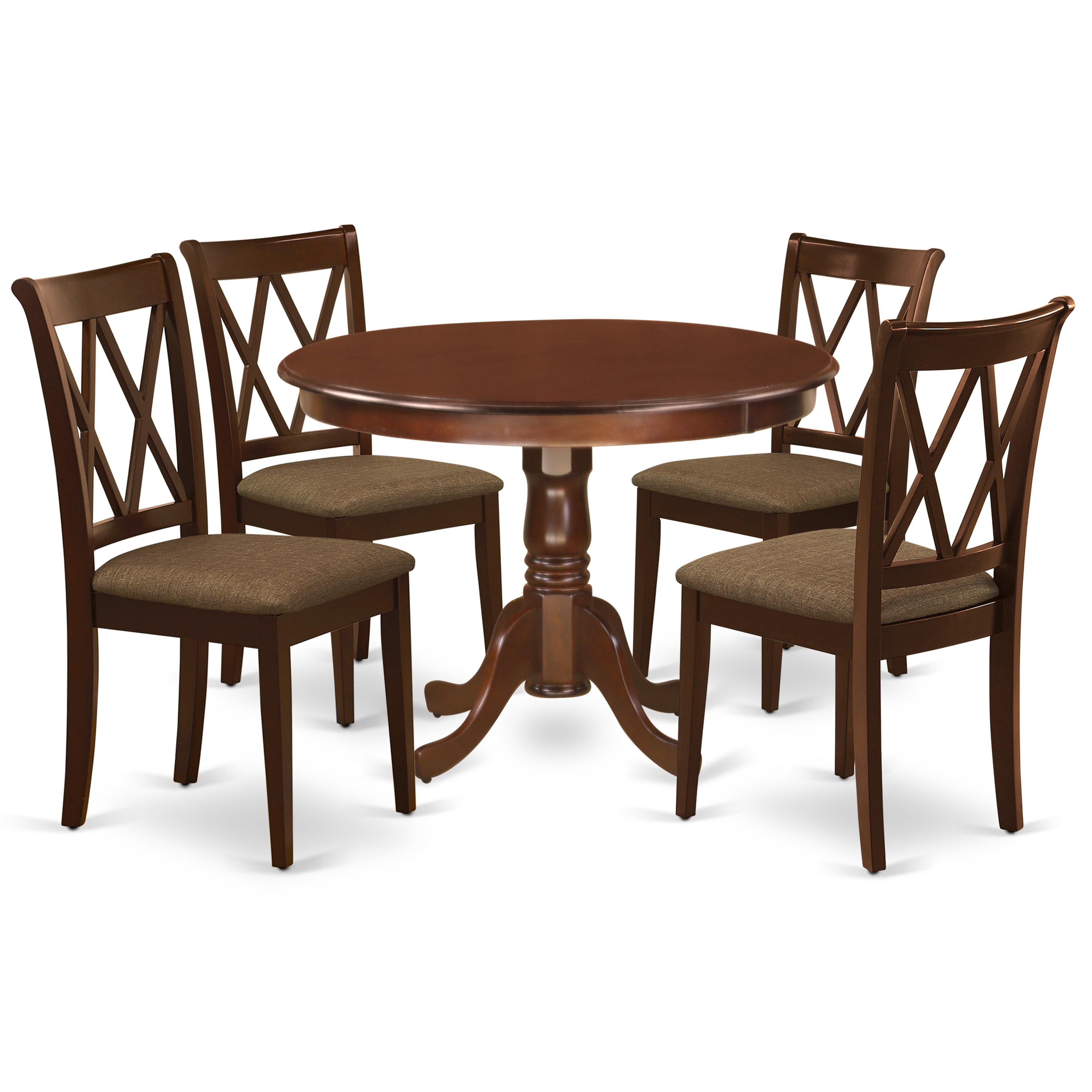 Winston Porter Schiraga 5 Piece Solid Wood Dining Set Wayfair