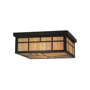 Meyda Tiffany Greenbriar Oak 4-Light Flush Mount