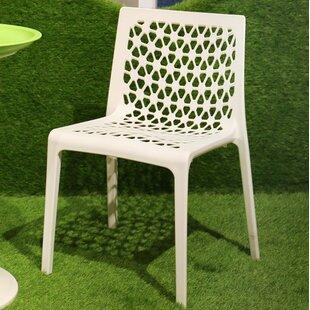 Wrought Studio Landgraf Stacking Patio Dining Chair (Set of 2)
