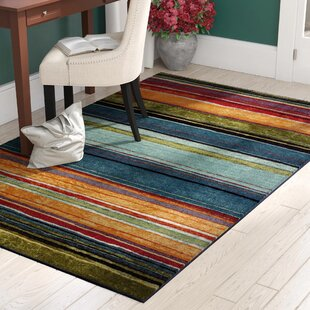 Best Reviews Bartlett Las Cazuela Blue/Orange Area Rug By Red Barrel Studio