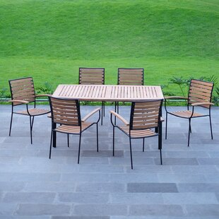 Clary Patio 7 Piece Teak Dining Set