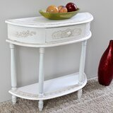 Lepore 2-Tier Antique White Wood Console Table by Lark Manor™