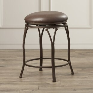Boyers 24.375 Swivel Bar Stool Red Barrel Studio