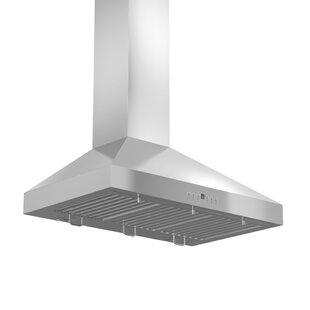 400 CFM Ducted Wall Mount Wood Range Hood