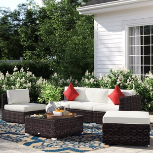 Barnett 6 Piece Rattan Sectional Set by Sol 72 Outdoor