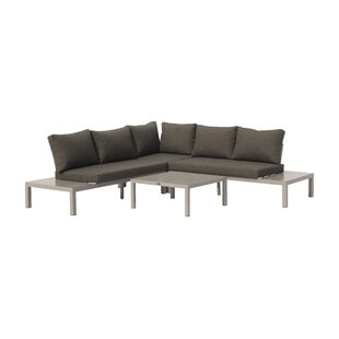 Euart Outdoor 4 Piece Sectional Seating Group with Cushions