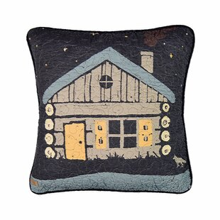 Galey Moonlit Cabin Cotton Throw Pillow