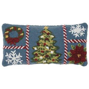 Leboeuf Grid Wool Lumbar Pillow