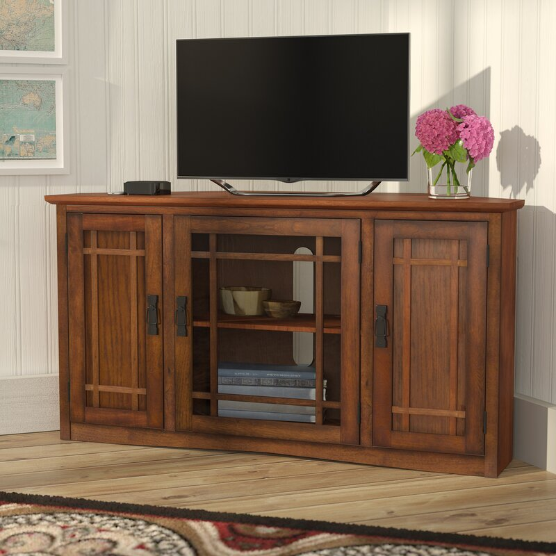 Charlton Home Stodeley Corner Tv Stand For Tvs Up To 50 Reviews Wayfair