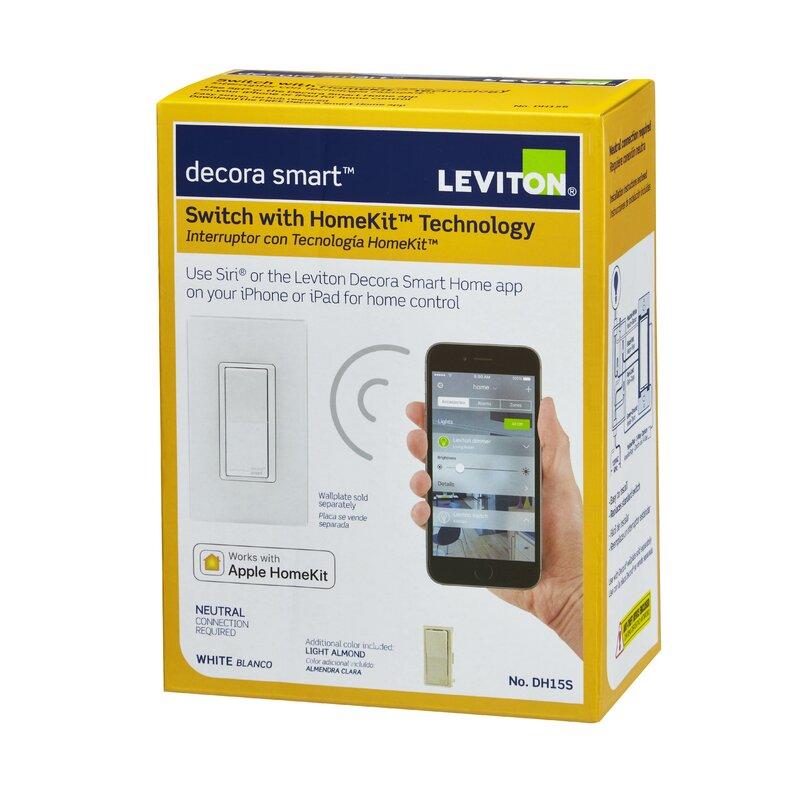 Leviton Decora Smart Switch Wall Mounted Dimmer With Apple Homekit Technology Wayfair