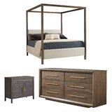 Panavista Upholstered Canopy Configurable Bedroom Set by Stanley Furniture