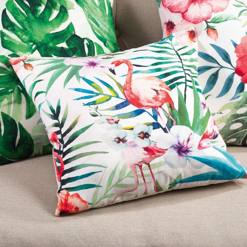Tropical Flamingo Indoor/Outdoor Throw Pillow