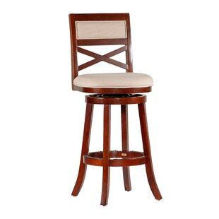 Saylor 30 Swivel Bar Stool by Millwood Pines Great Reviews