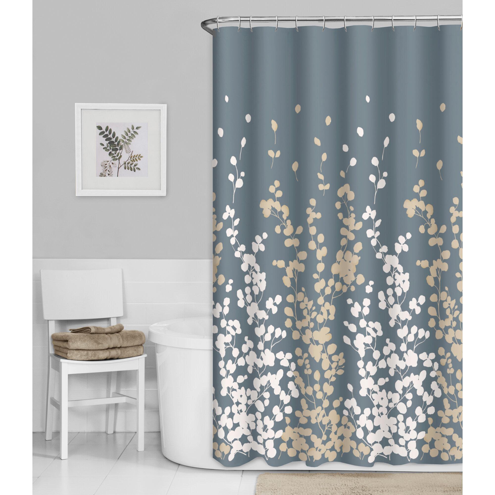 Winston Porter Thad Floral Single Shower Curtain Reviews Wayfair