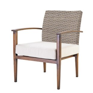 Bungalow Rose Brinwood Patio Chair with C..