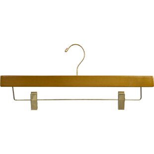 Where buy  Extra Long Wooden Bottoms Hanger with Honey Finish and Adjustable Cushion Clips (Set of 50) BySymple Stuff