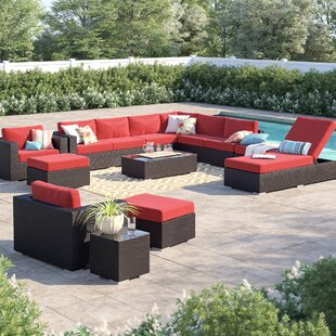 Brentwood 12 Piece Rattan Sectional Set with Cushions