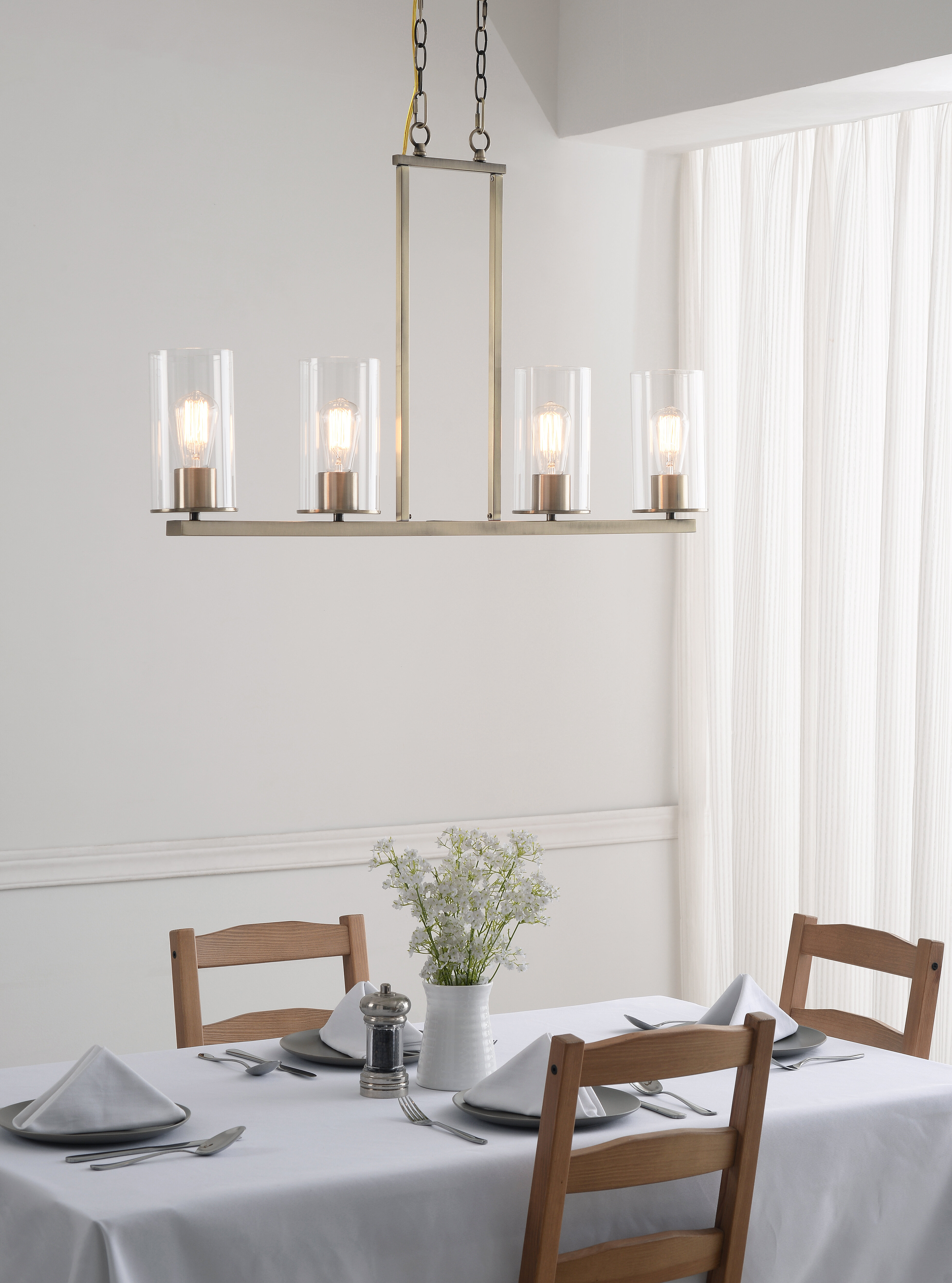 Brayden Studio Sweatt 4 Light Kitchen Island Linear Pendant Reviews