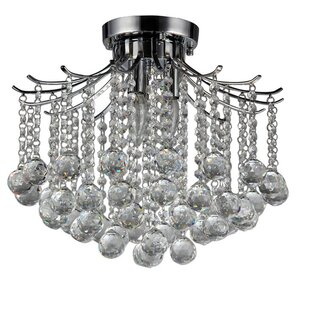 Warehouse of Tiffany Jewel 3-Light Crystal Chandelier