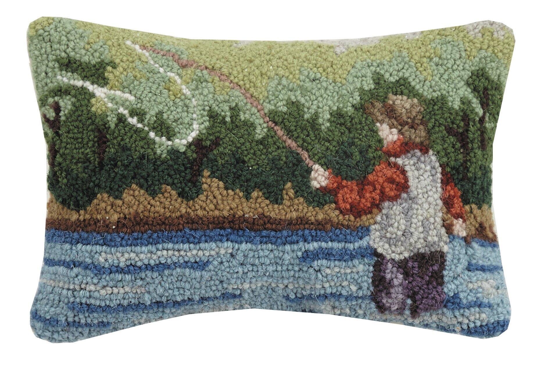 Loon Peak Tonquin Fisherman Hook Wool Lumbar Pillow Reviews Wayfair