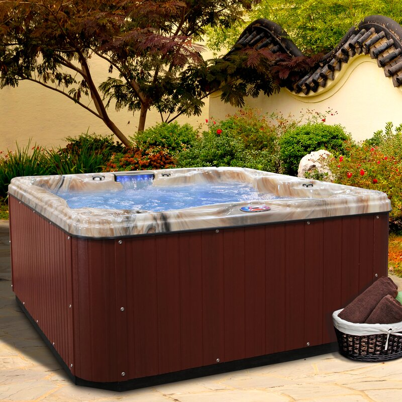 5-Person 30-Jet Spa with Backlit LED Waterfall