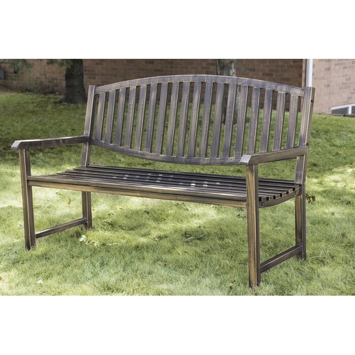Marvelous Katelyn Slatted Metal Park Bench Bralicious Painted Fabric Chair Ideas Braliciousco