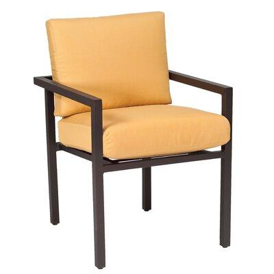 Salona Patio Dining Chair Woodard Cushion Color Canvas Spa