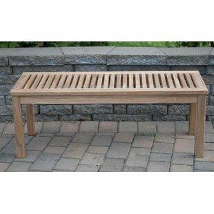 Abner Backless Solid Teak Picnic Bench