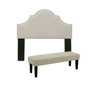 Stepanie Upholstered Panel Headboard and Bench