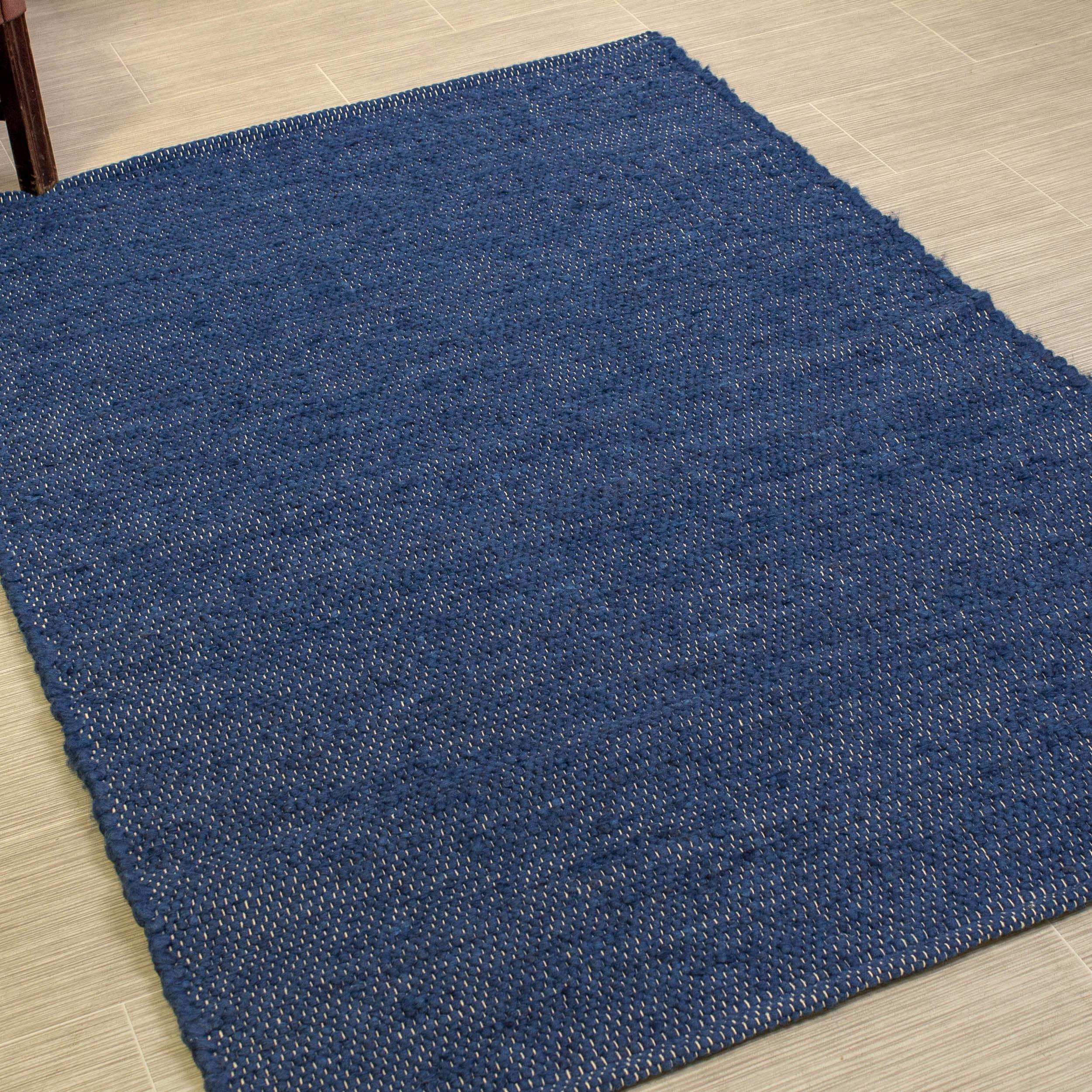 Herndon Handmade Braided Navy Blue