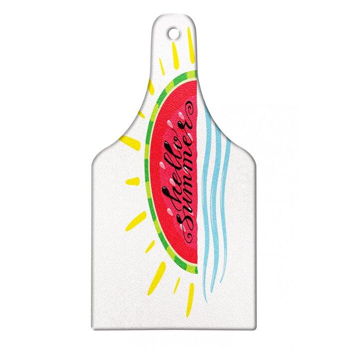 Tempered Glass Cutting Board Kitchen Decor Counter Top FUNNY Watermelon Slice