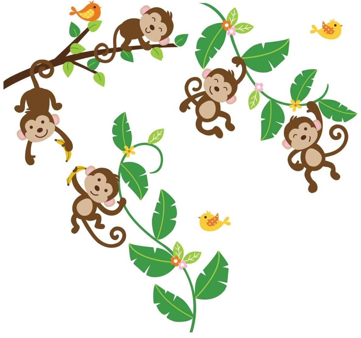 Five Little Monkeys Nursery Wall Decal