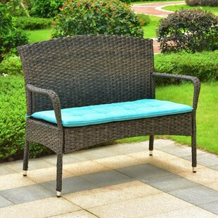 Konen Resin Wicker Park Bench by Winston Porter 2019 Coupon