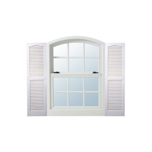Exterior Vinyl Louvered Shutters (Set Of 2) By Alpha Shutters