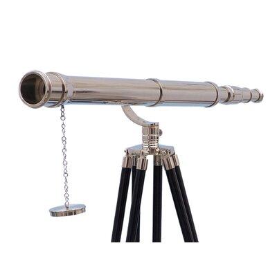Galileo Refractor Telescope Handcrafted Nautical Decor Finish: Chrome