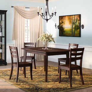 Pico 5 Piece Solid Wood Dining Set Alcott Hill