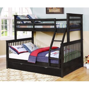 Compare prices Auguste Twin Over Full Bunk Bed with Trundle by Harriet Bee Reviews (2019) & Buyer's Guide