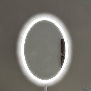 Compare & Buy Oval Backlit Bathroom/Vanity Wall Mirror By Paris Mirror