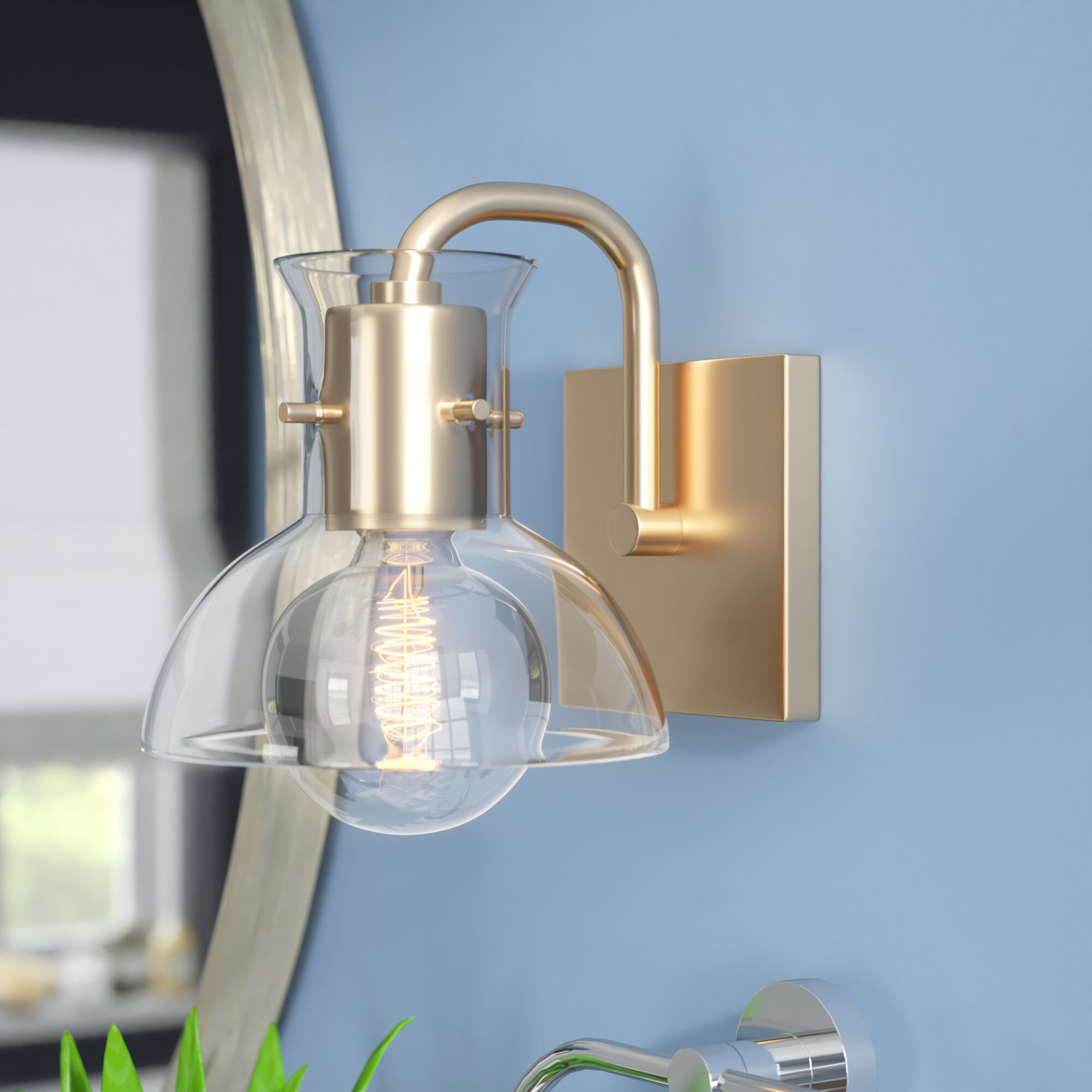 Langley Street Altamirano 1-Light Bath Sconce & Reviews | Wayfair