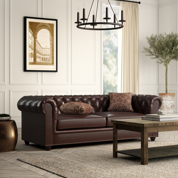 Itasca Leather Chesterfield Sofa