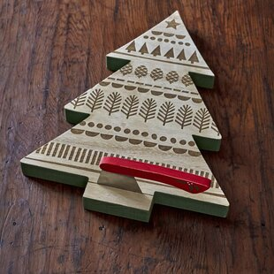 Christmas Tree with Hatchet Spreader Serving Tray