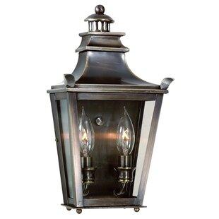 Darby Home Co Annett 2-Light Outdoor Flush Mount