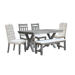 Sawyer 6 Piece Extendable Dining Set by Gracie Oaks
