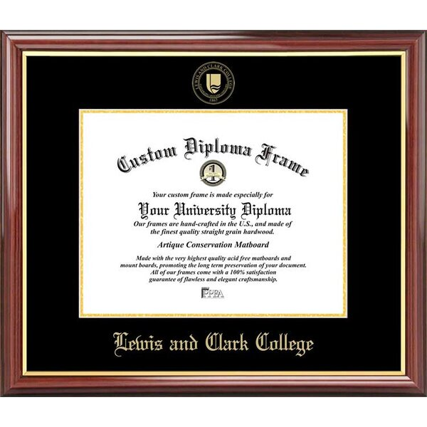 Diploma Frame Deals Lewis And Clark College Petite Picture Frame Wayfair