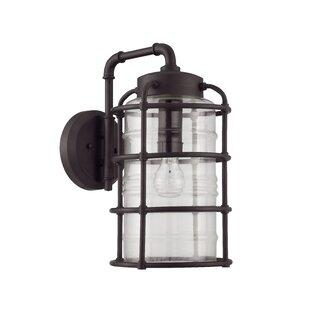17 Stories Aario 1-Light Outdoor Wall Lantern