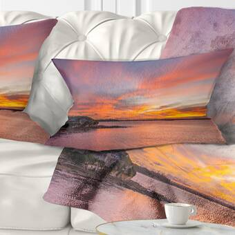 East Urban Home Cloudy Sky And Stormy Waves In Sydney Seashore Pillow Wayfair