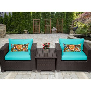 Belle 3 Piece Conversation Set with Cushions by TK Classics