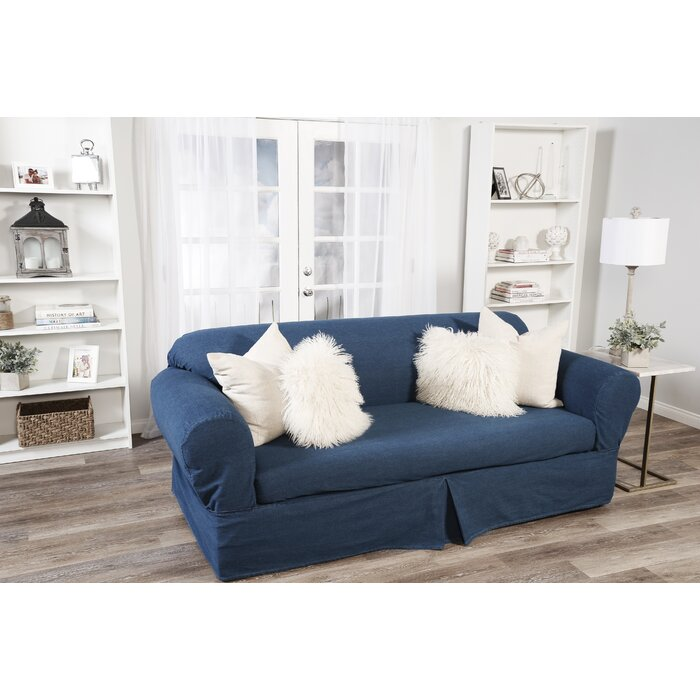 Astounding Skirted Box Cushion Sofa Slipcover Beatyapartments Chair Design Images Beatyapartmentscom